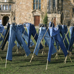 Jeans Treated With Catalytic Clothing Additive