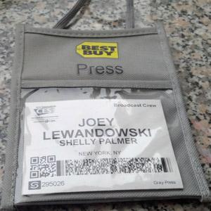 My first press pass!