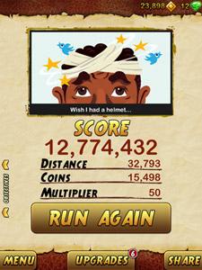 Temple Run 2 High Score