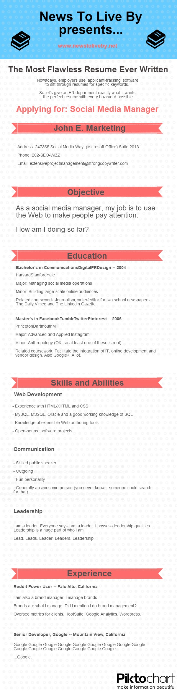 the most flawless resume ever written shelly palmer