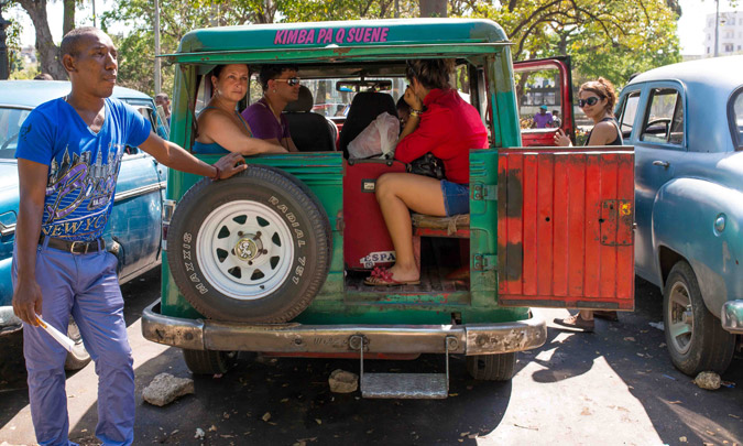 A Communal Taxi in Havana
