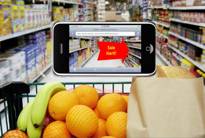 Augmented Reality (AR) in a grocery store