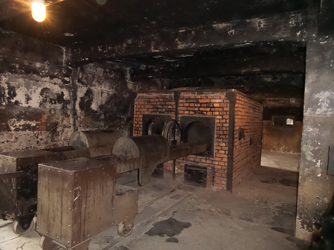 The ovens in Crematorium #1 at Auschwitz I