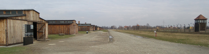 Wooden Barracks at Birkenau