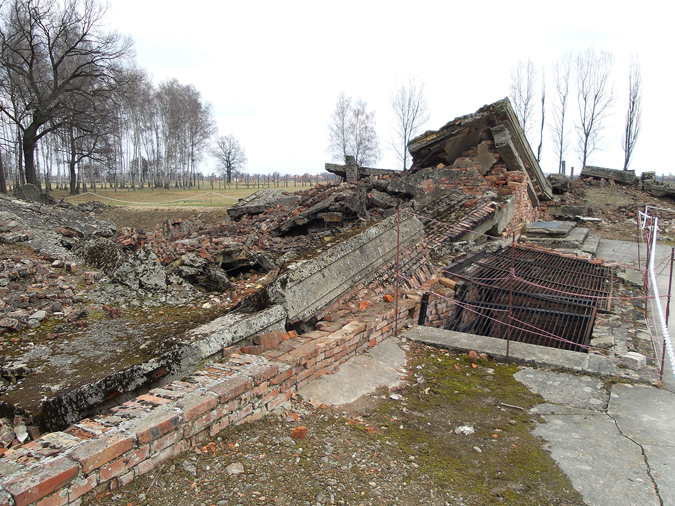 The ruins of one of Birkenau's gas chambers