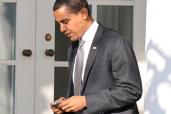 Barack Obama on BlackBerry