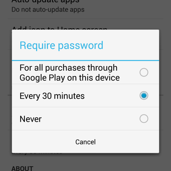 Google Play In-App Purchase Restrictions
