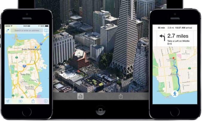 Apple Maps on iOS
