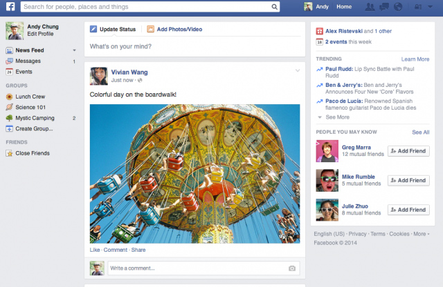 Facebook's News Feed Re-Design 2014