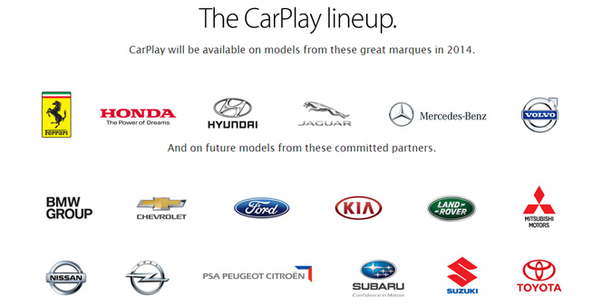 CarPlay Auto Manufacturers