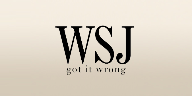 WSJ Got it Wrong