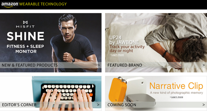 Amazon's Wearable Technology Storefront