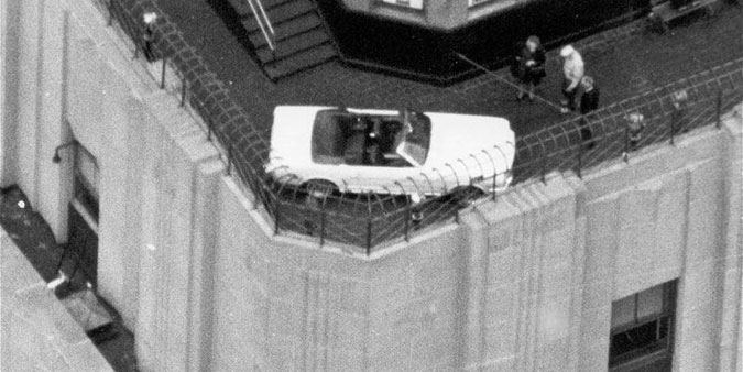 Ford Mustang on the Empire State Building in 1964