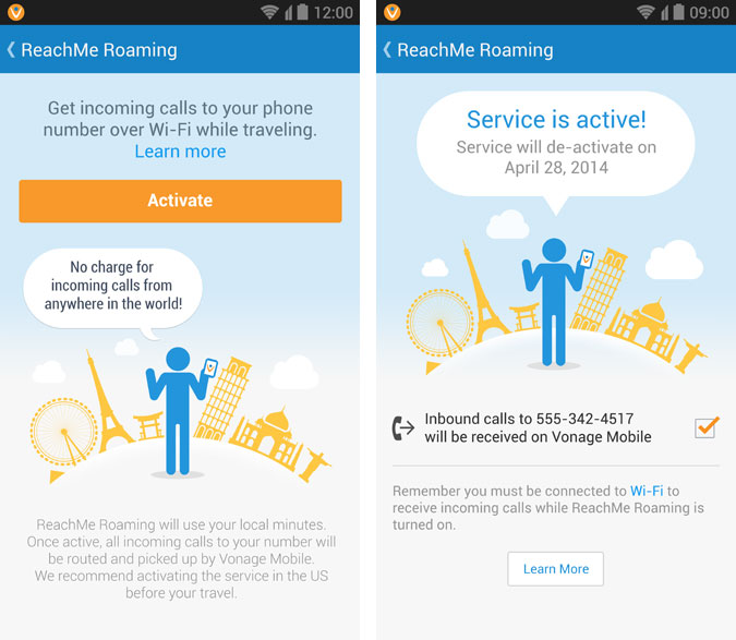 Vonage ReachMe Roaming