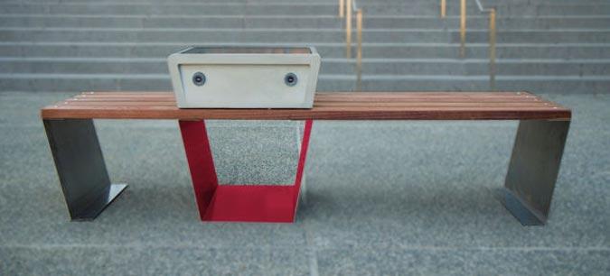 Boston's Smart Benches