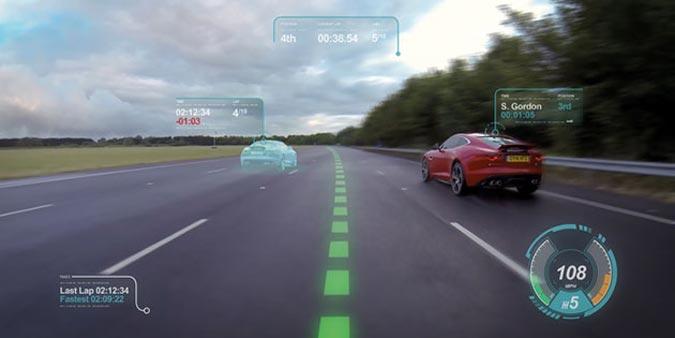 Jaguar Land Rover Windshield Display