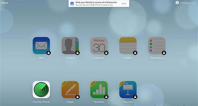 iCloud Two Step Verification