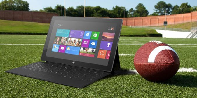 Microsoft Surface and Football