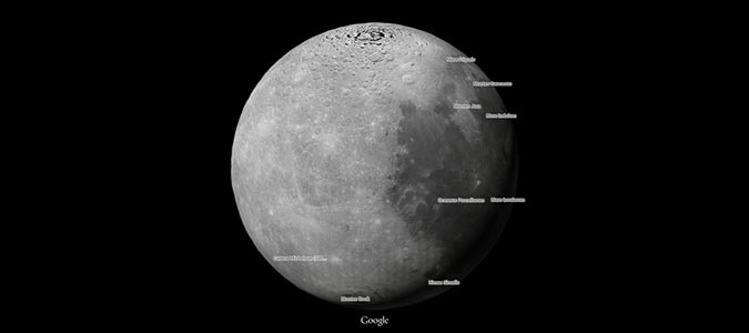 Moon on Google Maps