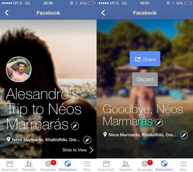 Facebook's Trip Slideshows