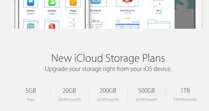 New iCloud Pricing