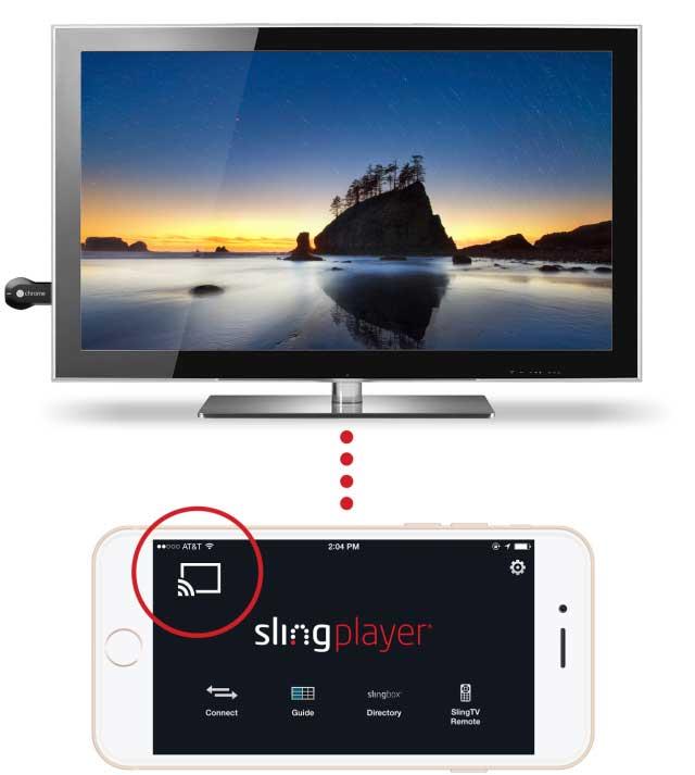 Sling Player App and Chromecast
