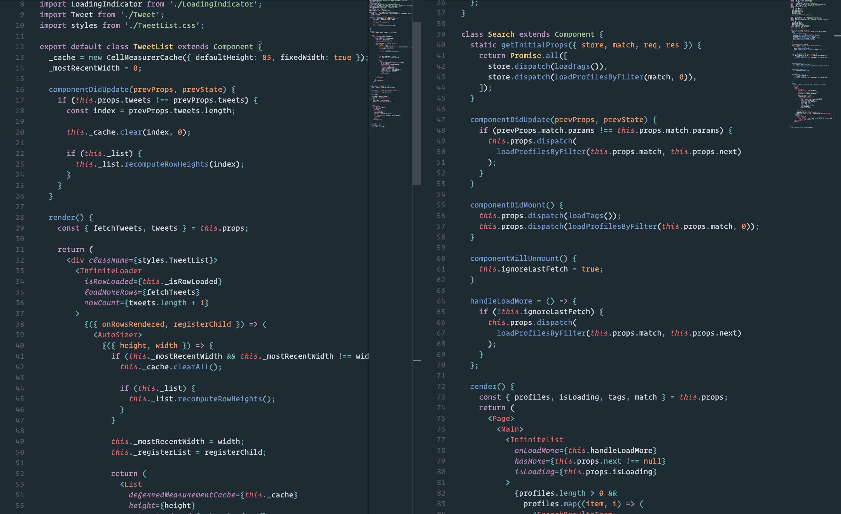 react.js screenshot