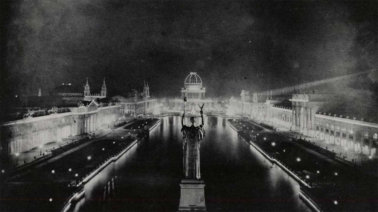 Chicago World's Fair 1983 at night