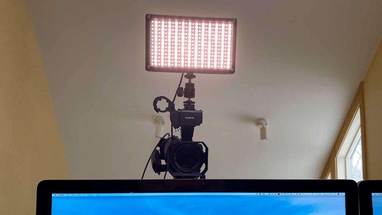 Light above camera